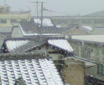 外はうっすら雪化粧の朝