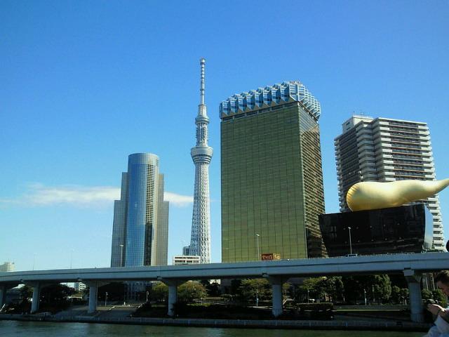 隅田川水上バスに乗って