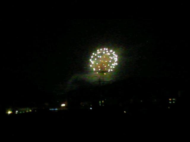 国立京都国際会館にて花火