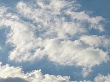 今日の雲はこんなん(~<br />  ▽~@)♪♪♪
